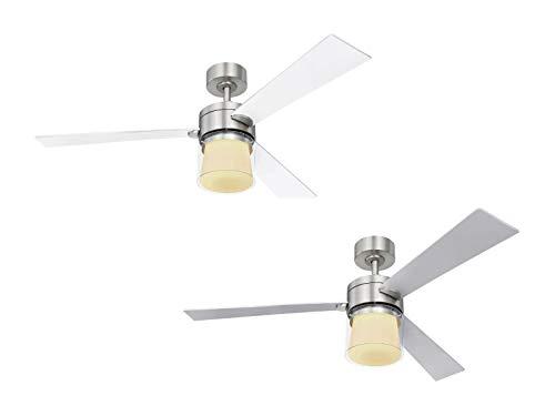 GLOBO Ventilador de techo de bajo consumo Verlosa, 132 cm, con LED.