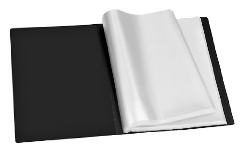Veloflex 4420180 Sichtbuch A4, mit 20 eingeschweißten Hüllen, 40 Sichtseiten, aus PP, Sichtmappe, schwarz