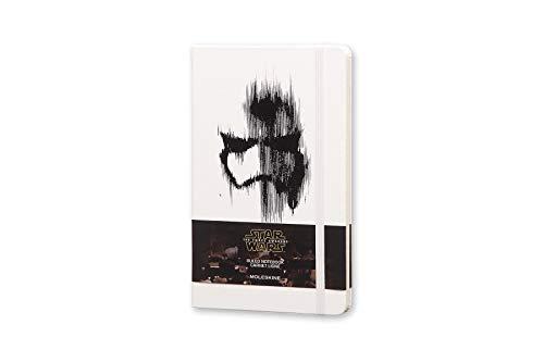 Carnet de Notes Moleskine Star Wars Edition Limitée, Carnet Ligné avec Graphismes et Détails sur le Thème Stormtrooper, Couverture Rigide, Grand Format 13 x 21 cm, Blanc, 240 Pages