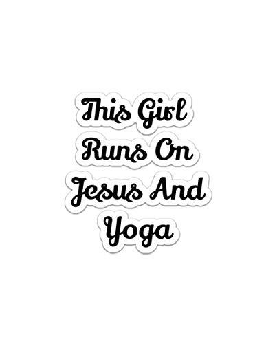 Pegatina para coches, camiones, botellas de agua, nevera, ordenadores portátiles, pegatinas de yoga y Jesús (3 piezas/paquete)