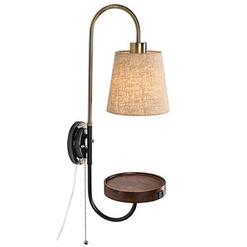 SWNN luces de pared nórdico lámpara de pared dormitorio lámpara de lectura nueva nueva personalidad china europea con cable interruptor línea abierta lámpara de pared