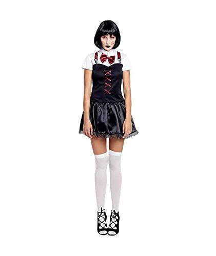 Hipex Collection Disfraz de Cosplay para mujeres, Halloween, Carnaval, Fiestas, Disfraces Adultos Mujer (Asesina Loca, S)