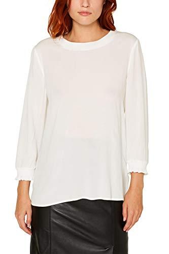 ESPRIT Damen 089Ee1F012 Bluse, Weiß (Off White 110), (Herstellergröße: 38)