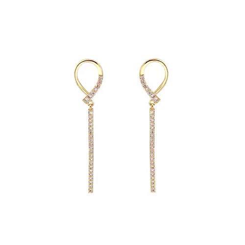Aguja de plata 925 pendientes de diamantes de imitación de super hadas pendientes de temperamento de super hadas femeninas pendientes salvajes simples de moda