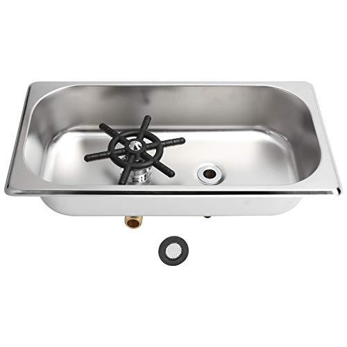 Enjuagadora de tazas, fácil de limpiar Cómoda de usar Aspecto inodoro Lavadora de tazas Diseño de múltiples ángulos con material de acero inoxidable para baño para cocina