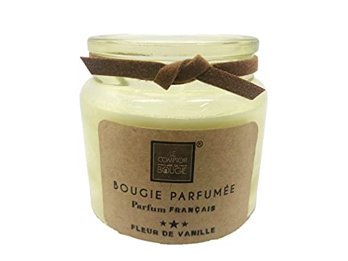 Ducomi Velas perfumadas en tarro de cristal – Idea regalo para tu hogar – Perfume intenso y duradero (80 g, flores de vainilla)