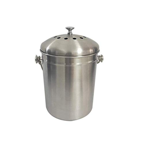 Purchase Barrel Odorless Compost Bin with Handle Stainless Steel Compost Bin Food Recycling Bin with...