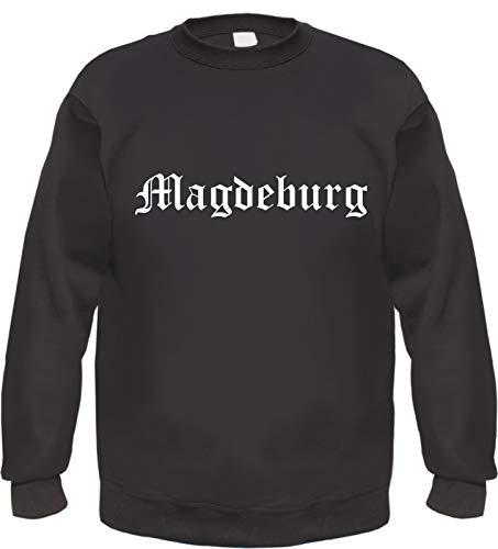 Magdeburg Sweatshirt - Altdeutsch - Bedruckt - Pullover XL Schwarz