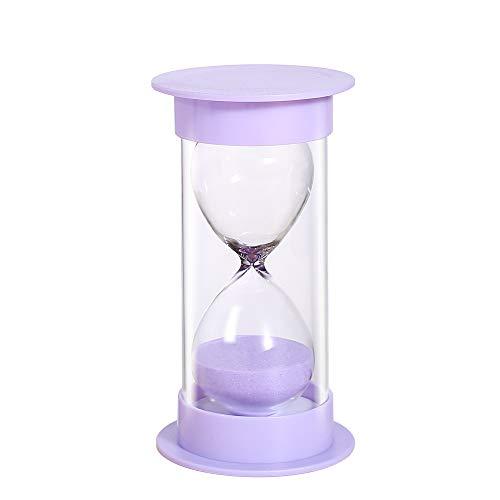 Toirxarn Sand Timer 5/10/15/30/60 minuti, clessidra di sicurezza per bambini, assistente di gestione del tempo, regalo creativo, decorazione dell'ufficio del soggiorno-60 minuti in viola macaron