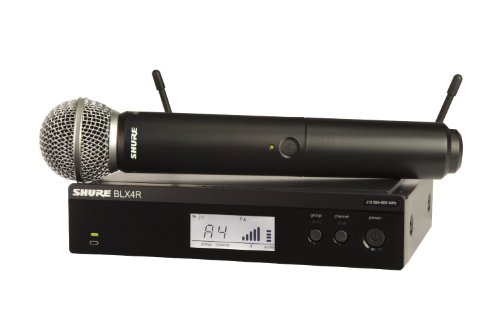 Shure BLX24R/SM58 Wireless Microphone System with BLX4R Rack Mount Receiver and BLX2 Handheld Transmitter with SM58 Mic Capsule, the Industry Standard for Vocal Performances