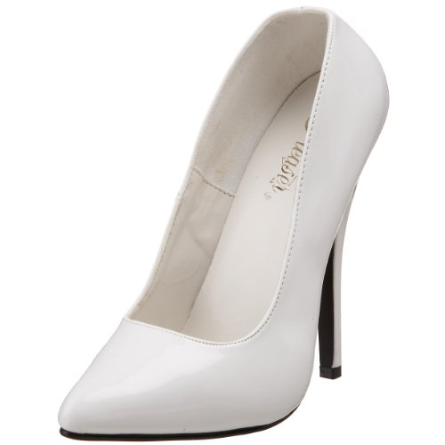 Pleaser DOMINA-420 8148 - Sandalias de vestir para mujer, color blanco, talla 36 EU