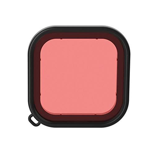 CameraParts BZN Plaza de Vivienda de Buceo Filtro de la Lente del Color for GoPro HERO8 Negro (Rosa) (púrpura) (Rojo) (Color : Pink)