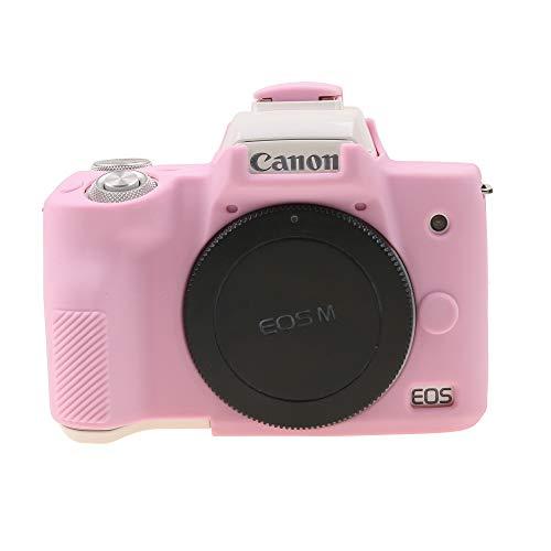 TUYUNG - Custodia per fotocamera in silicone, compatibile con fotocamera digitale Canon EOS M50, colore: Rosa