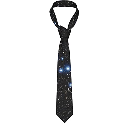 KXT Young Blue Stars Shine in Cosmic Men's Funny Neckties,Christmas Decorations Fashion Boys Cravats Tie,Classic Necktie for Wedding Party Business