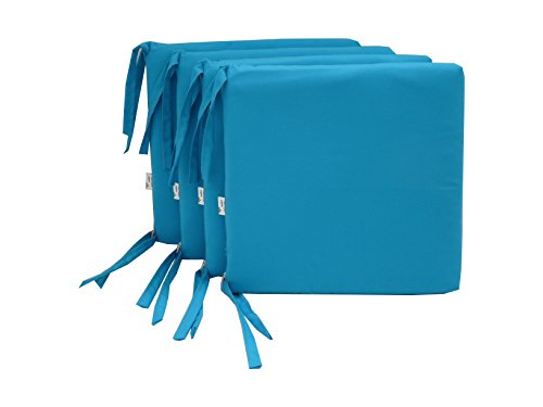 Maffei Art 700 Coussin DRALON, Assise DEHOUSSABLE, pour Assise. Made in Italy. Couleur Turquoise. Lot de 4 pièces