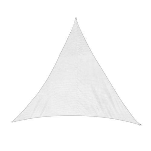 jarolift Sonnensegel Dreieck Gleichschenklig, Wasserabweisend, Sonnenschutz Sichtschutz für Terrasse Garten Balkon, Polyestergewebe 300 x 300 x 300 cm, Cremeweiß
