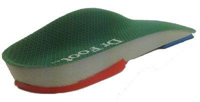 Dr Foot Pro wkładki do supinacji z maksymalnym wsparciem (3/4 długość) para (małe (rozmiar buta brytyjskiego 5-6) (rozmiar buta 6-7))