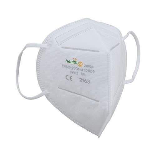 DEVELLE FFP2 Atemschutzmaske 30 Stück Packung CE Zertifiziert einzeln verpackt im hygienischen PE-Beutel Atem Schutz Maske Schutzmaske für alle Bereiche