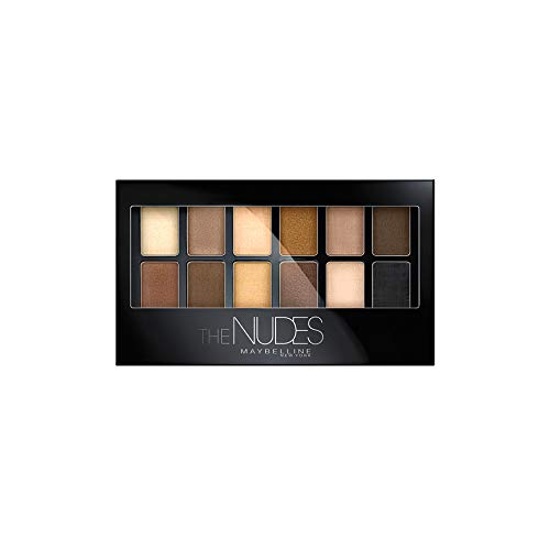Maybelline New York Lidschattenpalette The Nudes, 1er Pack (1 x 9,6 g)