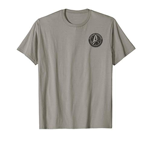 Star Trek Discovery Black Federation of Planets Badge T-Shir
