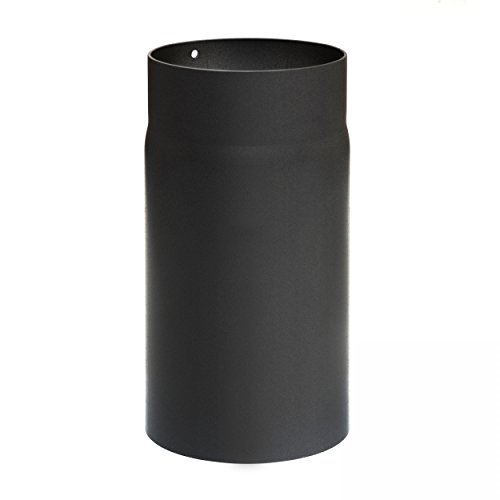 raik SH004-120-sw Rauchrohr/Ofenrohr 120mm - 250mm schwarz