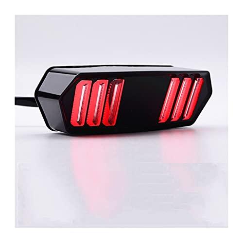 para MSX125 para CBR650F para CTX700 / N Motorcycle LED Luz de Cola Transporte Freno de Parada Advertencia Trasera Lámpara indicadora Luces de Freno
