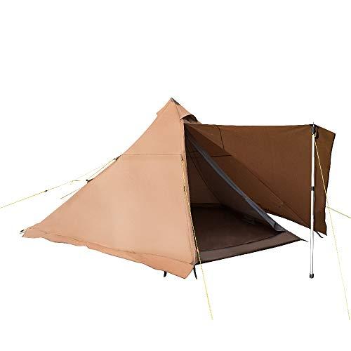 GeerTop ワンポールテント 2-3人用 TC コットン サーカス 薪ストーブ テンマク 結露対策 防水 ティビー 組立簡単 キャンプ 公園 バーベキュー
