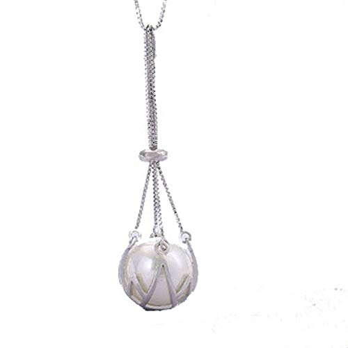 Solid sterling silver pendant setting without chain, pearl cage pendant mounting, pendant blank, jewelry DIY, gift DIY