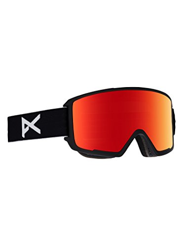Anon M3 Goggle with Spare Lens, Black Frame Red Solex Lens
