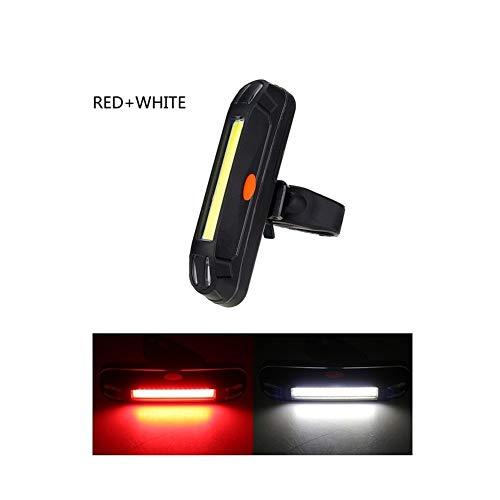 NOLOGO Yg-ct 3 Arten von Beleuchtung Modi: Fahrrad-Licht, COB-Fahrrad-Licht, LED-Rückleuchte, Fahrradhelm, Reiten oder Fahren Licht, Am AAA-Batterie (Farbe : Red with White)