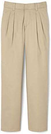 French Toast Boys Big Adjustable Waist Relaxed Fit Pleated Pant Standard Husky Khaki 16 product image