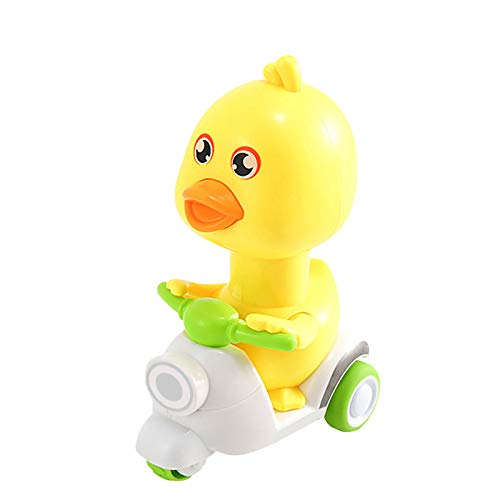 Children's Mini Car Pressure Type Little Yellow Ducks Motorcycle Pull Back Toy, Toys and Hobbies (Green)