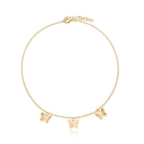 Collar Mariposa Colgante de aleación tridimensional Collar Tendencia femenina Nuevos productos Accesorios de moda