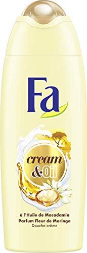 Fa - Gel Douche Corps - Cream & Oil - Huile de Macadamia & Parfum Fleur de Moringa - Formule de pH neutre pour la peau - Testé sous contrôle dermatolo