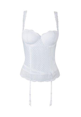Aubade Coco Blues Korsage R102 Damen Polyester, Weiß, Größe 75B