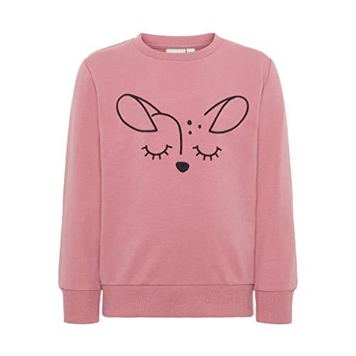 NAME IT Unisex Sweatshirt Bestickt in rosa mit Motiv REH 116/6 Jahre