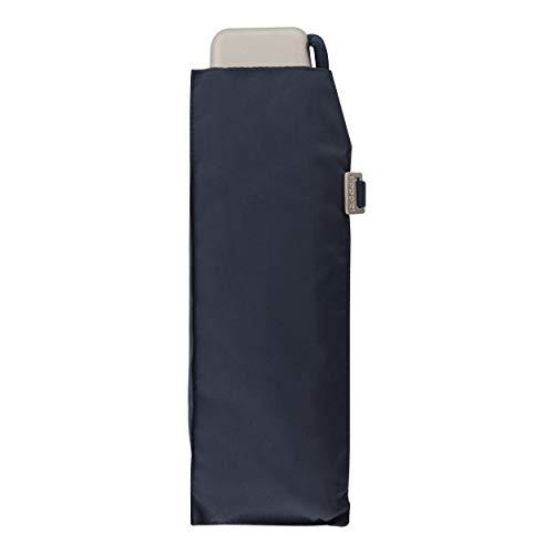 doppler Regenschirm Traveler Slim - Federleicht und kompakt - Flaches Format - 22 cm - Navy