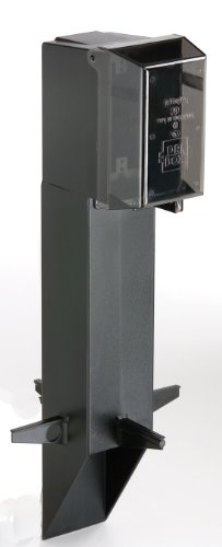 GPD19B-1 Gard-N-Post Low-Profile Outdoor Landscape Lighting Post Enclosure with Outlet Cover, 19.5-Inch, Black, 1-Pack