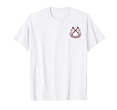 Mens Mens West Ham United Hammer Patch T-Shirt White Gray