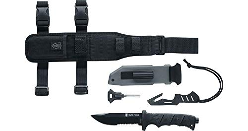 Elite Force 1 Outdoormesser 703 KIT Survival, Schwarz, 200 mm