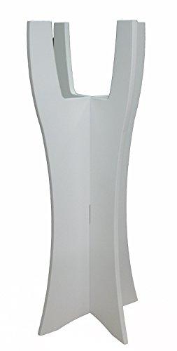 Wood & Solutions shop Porte-Pot Moderne avec Vernis Blanc pour Pots de Fleurs, diamètre Max 20 cm