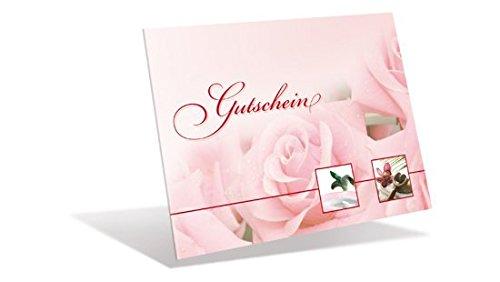 Gutscheinkarten (10 Stück) für Kosmetik, Wellness, Beauty - Gutscheine als Klappkarten mit rückseitiger Lasche verschließbar!