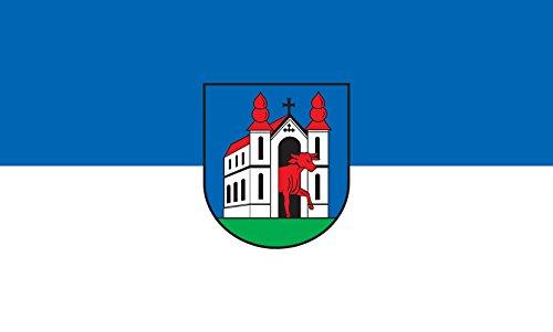 Unbekannt magFlags Tisch-Fahne/Tisch-Flagge: Ochsenhausen 15x25cm inkl. Tisch-Ständer
