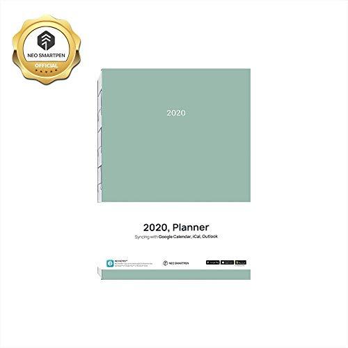 neoLab 2020 Planer Mint Cover mit Jahres-, Monats- und Zielverfolgungsseite für Neo Smartpen N2, M1, M1+ mint