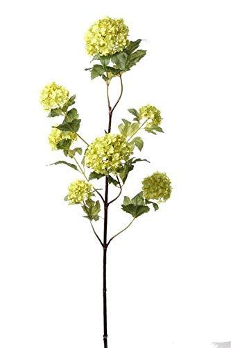 artplants.de Set 3 x Ramas sintéticas de viburno Pino, Verde, 110cm, Ø5-9cm - Pack de Ramas de Bola de Nieve Artificial - Sauquillo Textil