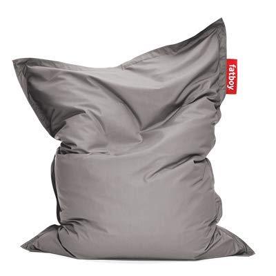 Fatboy® Original Outdoor grau Acryl-Gewebe Sitzsack | Klassischer Beanbag für draußen, Sitzkissen | 180 x 140 cm