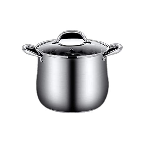 MUMUMI Stock Pot, Cacerola Acero Inoxidable Pequeña Salsa para Cocina Cocina Restaurante Cocinar Saute Pan Horno Caja de Leche Caja de Leche Pot,Metálico