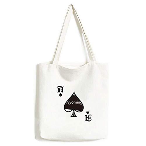 Wyoming The United States of America - Bolsa de Mano para Pala de póquer