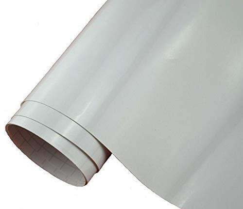 Neoxxim 24,22€/m2 Premium Auto Folie - GLÄNZEND Weiss Glanz WEIß 30 x 150 cm - blasenfrei mit Luftkanälen ca. 0,15mm dick Folierung folieren bekleben