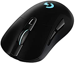 Logitech G703 LIGHTSPEED Ratón Gaming Inalámbrico, Captor HERO 25K, 25,600 DPI, Pesos Ajustables, 6 Botones Programables, Memoría Integrada, POWERPLAY-compatibile, PC/Mac, Negro